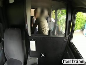 Skanky amateur with massive knockers cunt banged by a driver