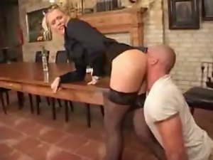 Male Dominates Her Butt With His Face