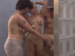 Big Brother Shower luscious washing bodypaint off