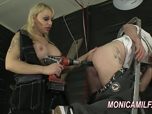 Attractive pegging and butt drilling by Norwegian MonicaMilf