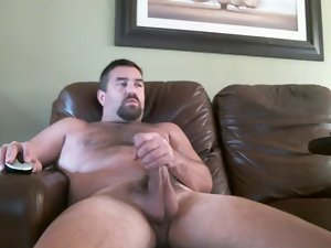 Daddy with a extremely large dick on the webcam