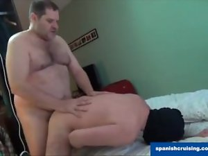 Hung daddy bear grinding