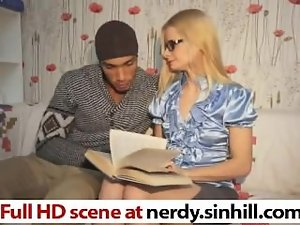 Gaunt Rus Blondie Fellatio on a Large dark shaft - nerdy.sinhill.com
