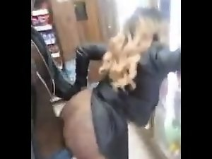Chap video him self banging in a store