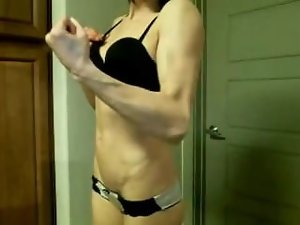 cam young lady flexing compilation