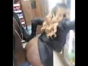 Shagging Nympho In the back of a store