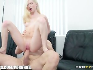 Brazzers - Sensual blond with braces accepts extremely big cock