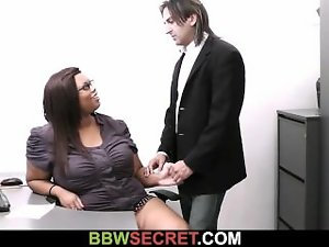 He cheats with filthy ebony secretary and gets busted