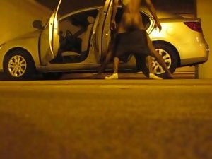 Top wit gorgeous naughty ass bangs darksin nigga in parking lot