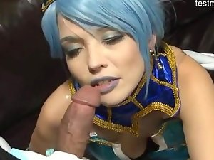 Sensual girlfriend amazing handjob