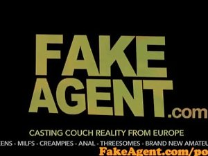 FakeAgent Sexual blond bar lass banged brutal and spunked over in Casting