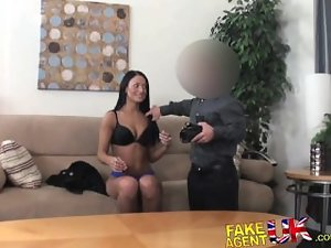 FakeAgentUK Midget cons sexual tanned amateur dark haired into having sex