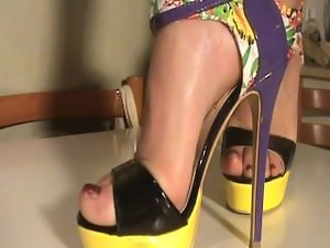 Feet attractive mature my dirty wife in shoes luscious