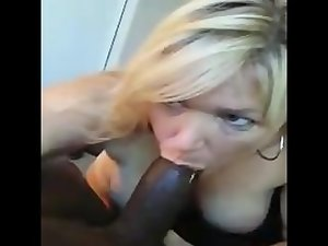 White Slutty wife Blows Black Bull