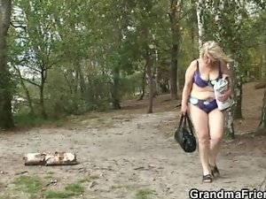 So aged granny and lads sassy teen fuck outdoors