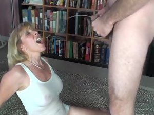 New lad Pisses in my mouth and all over me and then CUMs in my mouth!