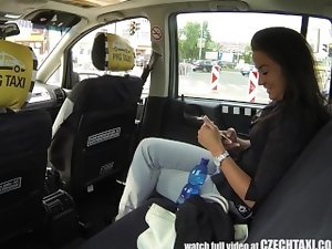 CzechTaxi Multiple Wench Orgasm in the Backseat