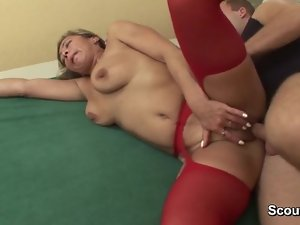 Stepmom wake up when lad touch her and get banged wild