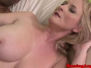 Attractive mature blondie gets her obese dirty ass screwed