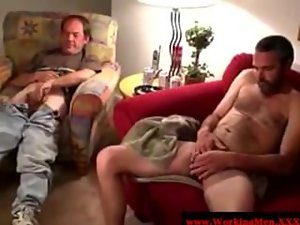 Straight amateur bears licking pecker