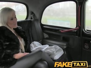 FakeTaxi Big melons light-haired has filthy sex with taxi driver