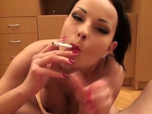 Abbie Cat Smoking Fetish Dick sucking