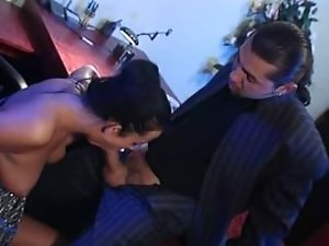 Hungarian babe helps her boss