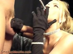 TM Smoking Cock sucking with Gloves