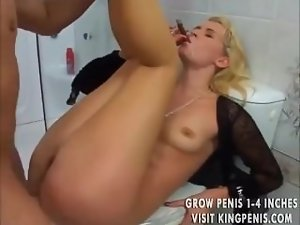 tempting blonde smoking cigar and have sex