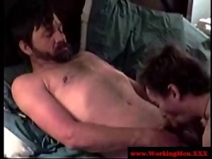 Straight attractive mature bear dilfs fellatio phallus