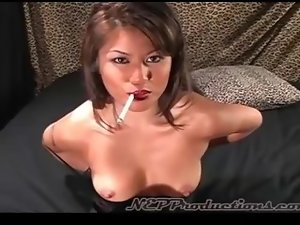 Charmane Star is a glamorous smoker