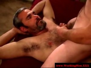 Straight dilf housewives love prick tasting
