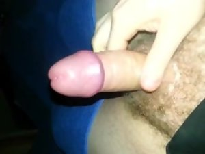 foreskin edging wank with pre cum until orgasm