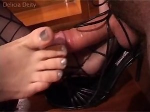 Delicia Deity Stocking Foot And Shoe Jerkoff