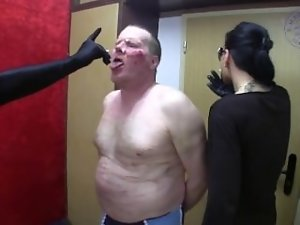 Lady Chantal - Brutal faceslapping and facebusting