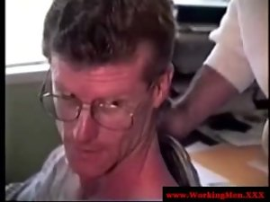 Attractive mature straight bear dilf strokes shaft