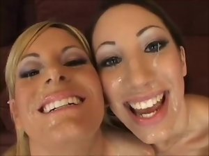 FACES OF CUM : Courtney Simpson and Chloe Morgan