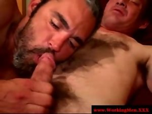 Filthy ex prisoner is giving head