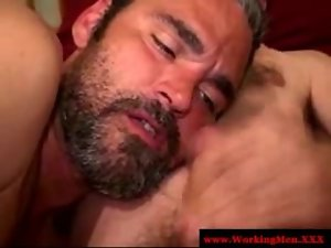 Amateur straight bear first time gay cock sucking