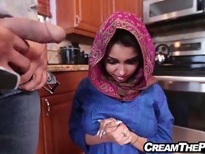 Creampie and fuck stunning virgin Middle Eastern sizzling teen