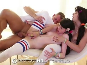 HD FantasyHD - Saucy teen Natalie and Heather are being bad randy chicks