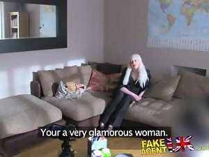 FakeAgentUK Artificial casting sees Web cam chick tryout dirty sex session