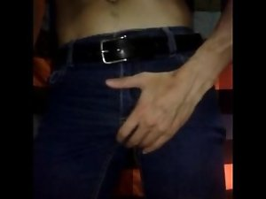 Tense jeans wit a sensual bulge after a lewd workout, and no PMO for 12 weeks:)