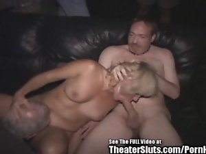Mad Rectal Mommy Jackie Theater GangBang!