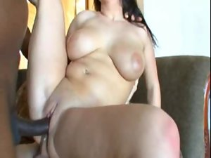 Filthy buxom bitch likes double fuck