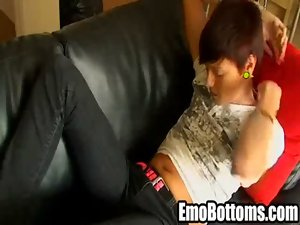 Sensual emo twink Dakota Shrine tugs his stiff pecker