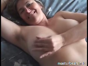 Orgasm at home Top heavy French Cougar Martine