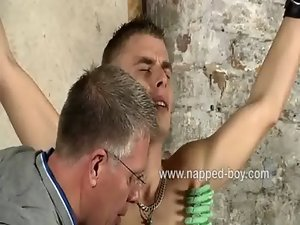 Roped Leo Fox gets his prick tormented by Sebastian Kane