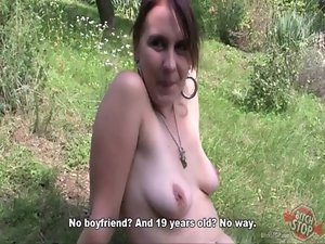 Cunt STOP - Tattooed harlot Eva banged outdoor