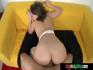 Charming big round naughty ass cutie gets a rough ride 22